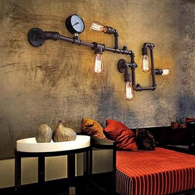 LOFT INDUSTRIAL VINTAGE PIPE WALL LAMP