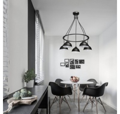 GLASS AND WOOD PENDANT LAMP A