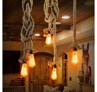 HEMP ROPE PENDANT LIGHT