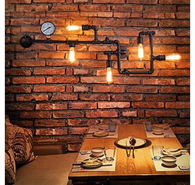 LOFT INDUSTRIAL VINTAGE PIPE WALL LAMP