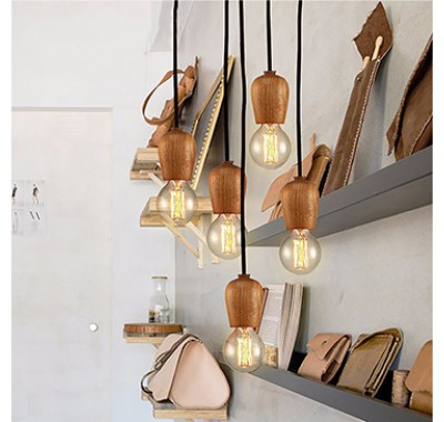 WOODEN LAMP HOLDER PENDANT LAM