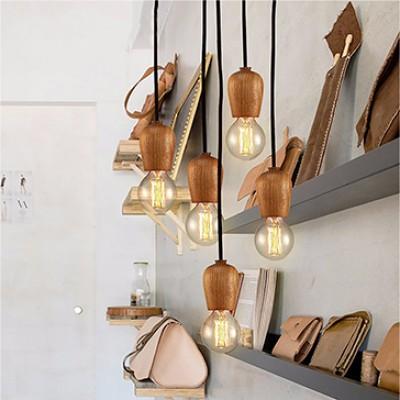 WOODEN LAMP HOLDER PENDANT LAM