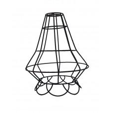 метален абажур - решетка - цвете - черен