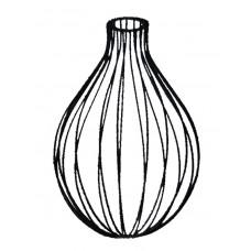 метален абажур - балон - черен