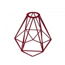 метален абажур - диамант - червен