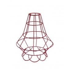 метален абажур - решетка - цвете - червен