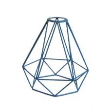 метален абажур - диамант - син