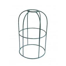 метален абажур - клетка - зелен