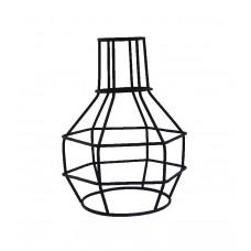 метален абажур - решетка - черен