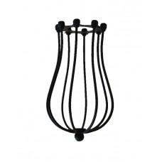 метален абажур - кафез - черен