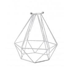 метален абажур - диамант - бял