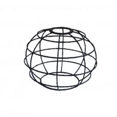 метален абажур - сфера - черен