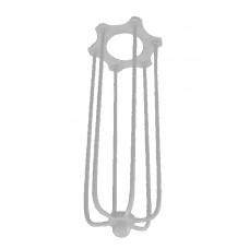 метален абажур - кафез - издължен - бял