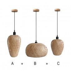 комплект 3 лампи - бамбук
