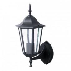 фенер за стена - черен мат - нагоре