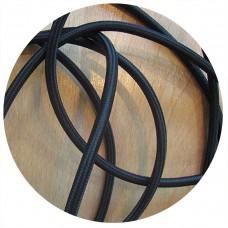 текстилен кабел - кръгло сечение - черен