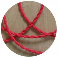 текстилен кабел - усукан - червен