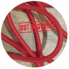 текстилен кабел - кръгло сечение - червен