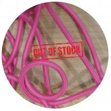 текстилен кабел - кръгло сечение - розов