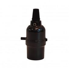 винтидж фасунга - права - E27 - вграден ключ бутон - черен цвят