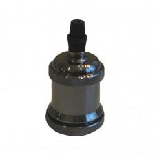винтидж фасунга Е27 - цвят - сив металик