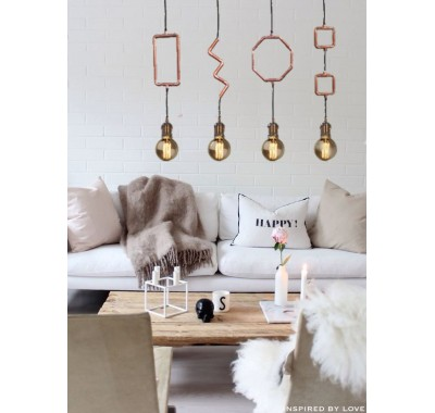 COPPER PIPE PENDANT LIGHT