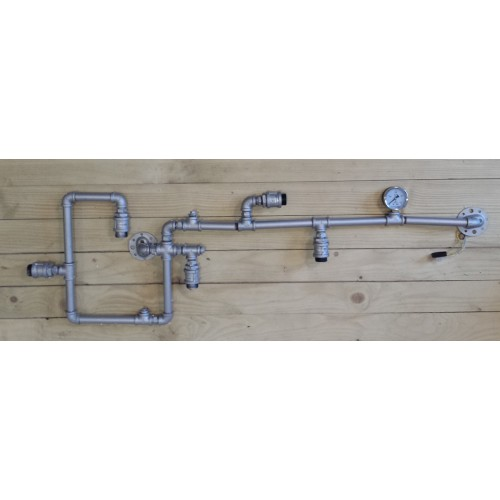 Loft industrial vintage pipe wall lamp 5 sockets for Industrial pipe light socket