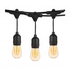 гирлянд E27 от 10 бр LED крушки - S14 - 7.5 м