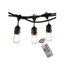 гирлянд от 15 бр LED крушки S14 - 14.5 м - дистанционно управление с димер