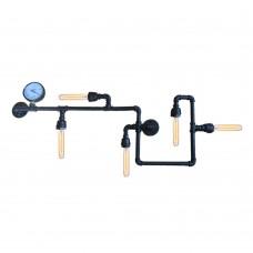 лампа от водопроводни тръби - 5 фасунги