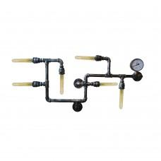 лампа от водопровони тръби - 6 фасунги